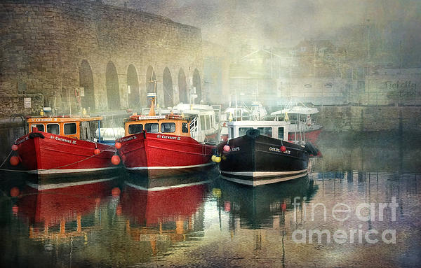 Brian Tarr - Seahouses harbour in mist