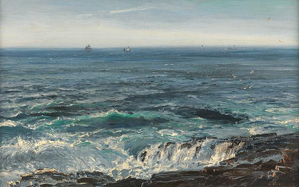 Seascape 1877 Print by Henry Moore