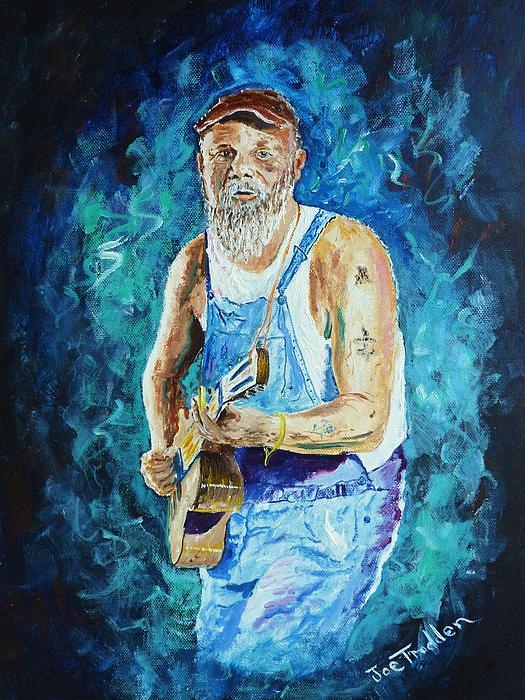 Seasick steve print by joe trodden