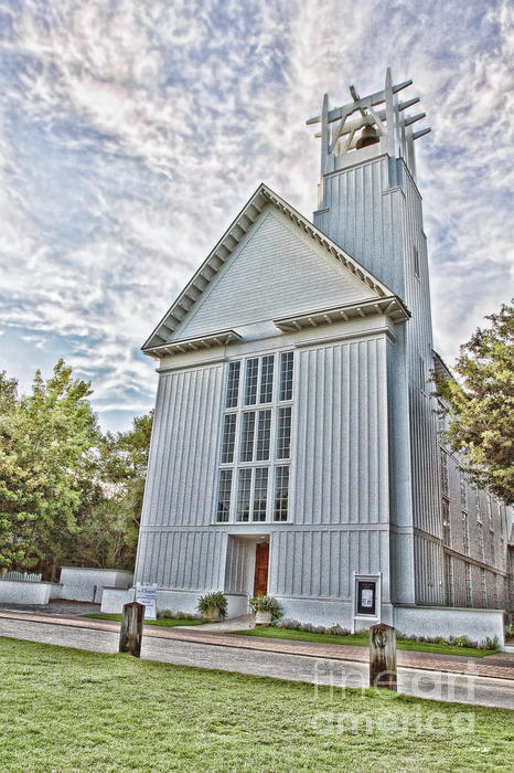 Seaside Chapel Print by Scott Pellegrin