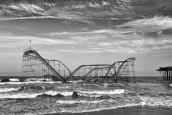 Seaside Heights - Jet Star Roller Coaster Print by James Nesterwitz