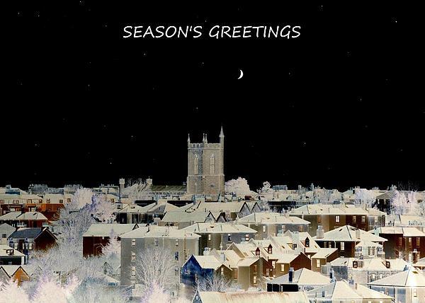 Seasons Greetings Christmas Card Print by John Tidball