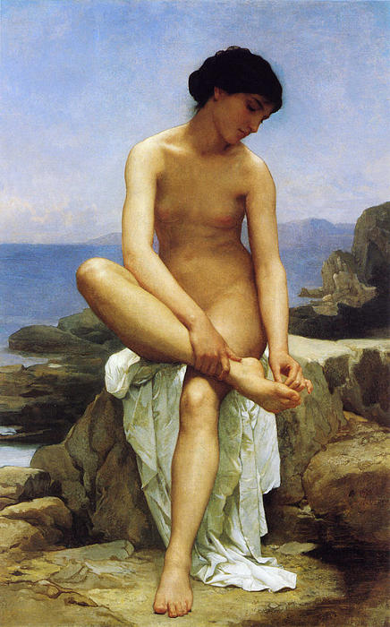 Seated Bather Print by William Bouguereau