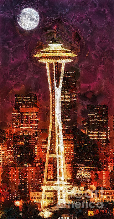 Seattle Print by Mo T