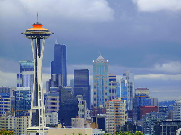 Seattle Skyline Print by Christopher Fridley