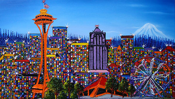 Seattle Space Needle #6 Print by James Dunbar