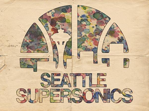 Seattle Supersonics Poster Vintage Print by Florian Rodarte
