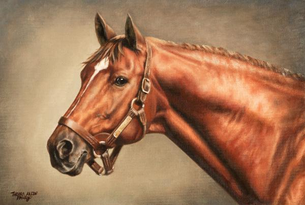 Secretariat At Claiborne Print by Thomas Allen Pauly