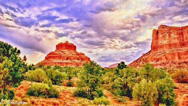 Sedona Arizona Bell Rock Vortex Print by Bob and Nadine Johnston