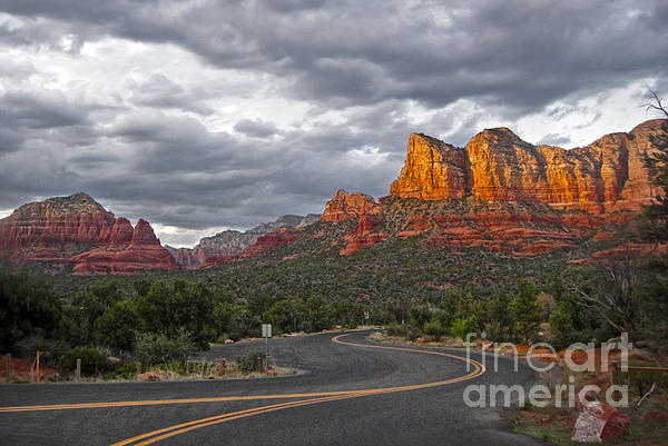 Sedona Arizona Lost Highway Print by Gregory Dyer