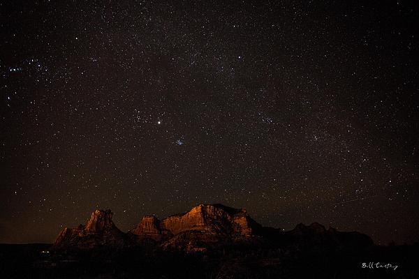 Sedona Milky Way Print by Bill Cantey