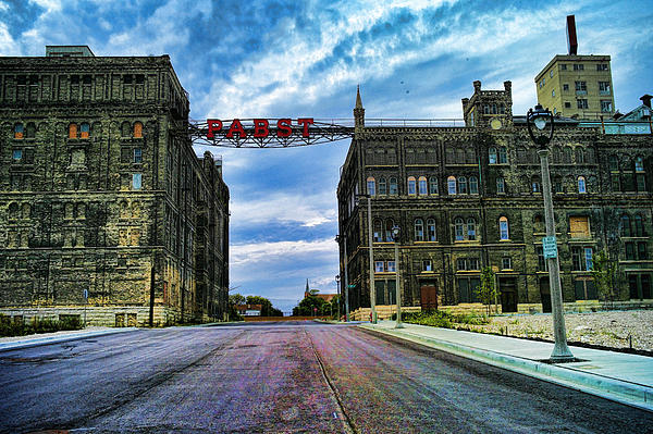 Seen Better Days Old Pabst Brewery Home Of Blue Ribbon Beer Since 1860 Now Derelict Print by Lawrence Christopher