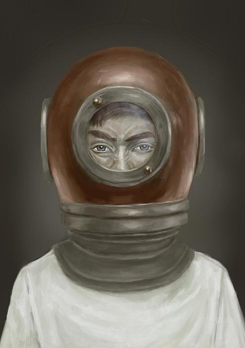 Self Portrait Print by Balazs Solti