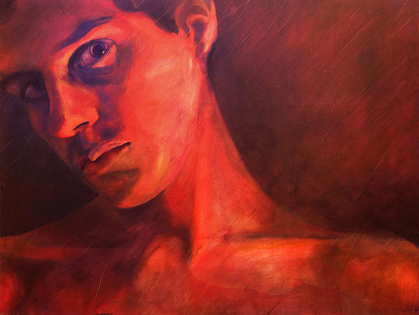 Alfredo Gonzalez - Selfportrait in red