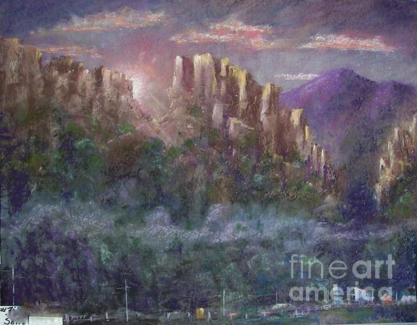 Seneca Sunrise Print by Bruce Schrader