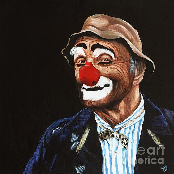 Senor Billy The Hobo Clown Print by Patty Vicknair
