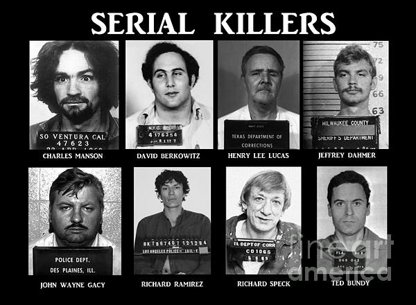 Serial Killers - Public Enemies Print by Paul Ward