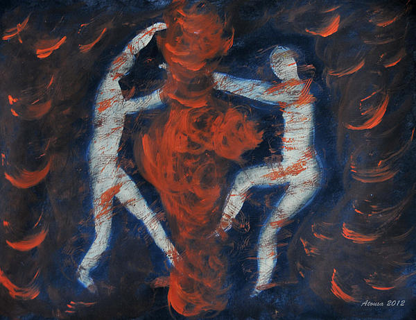 Set Fire To Your Soul Print by Atousa Raissyan