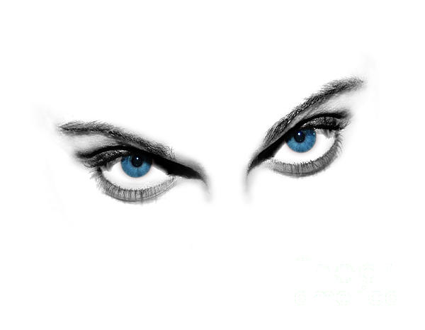 Sexy Blue Eyes Print by Jt PhotoDesign