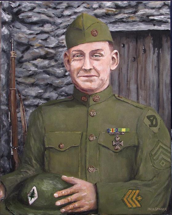 Sgt Sam Avery Print by Jack Skinner