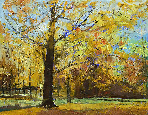 Shades Of Autumn Print by Michael Creese