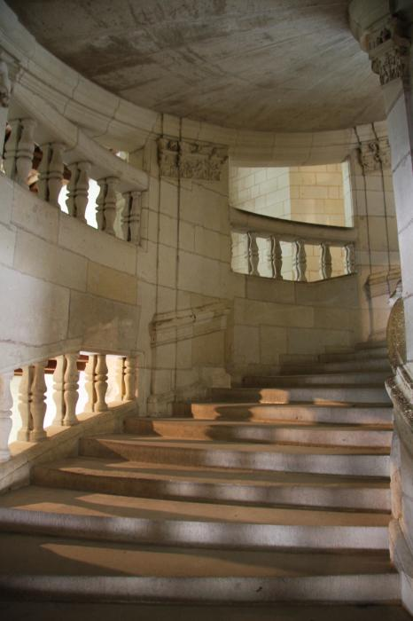 Christiane Schulze Art And Photography - Shadows On Chateau Chambord Stairs