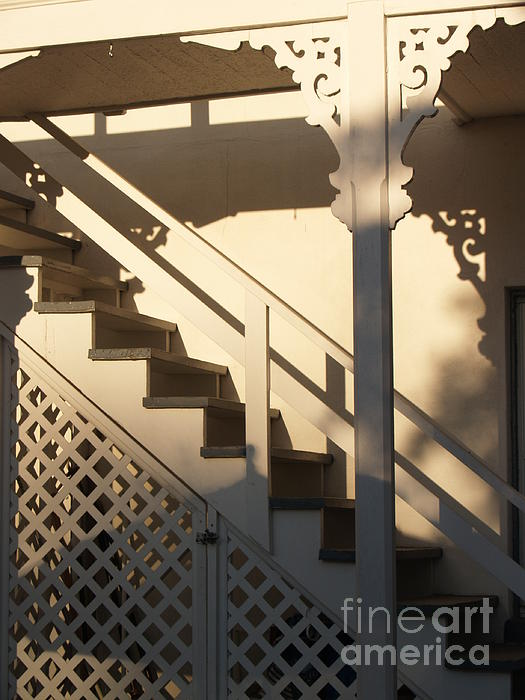 Shadowy Lambertville Stairwell Print by Anna Lisa Yoder
