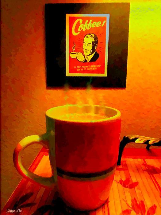 Shakey Planet Or Good Coffee Print by Buzz Coe