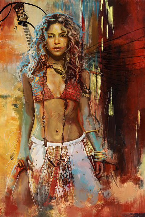 Shakira Print by Corporate Art Task Force