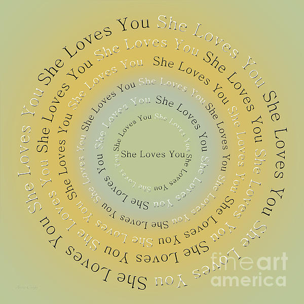 She Loves You 4 Print by Andee Design