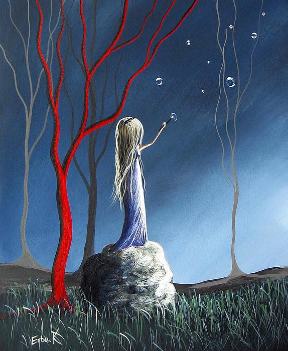 She Whispers Her Dreams By Shawna Erback Print by Shawna Erback