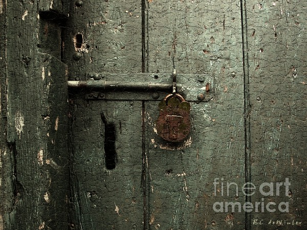 Shed Of Secrets Print by RC DeWinter