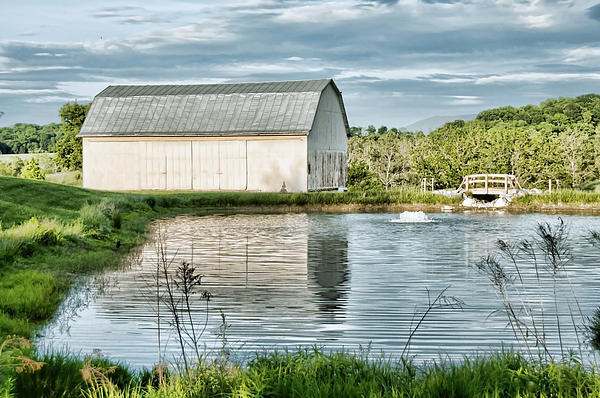 Shenandoah Barn Reflection Print by Lara Ellis