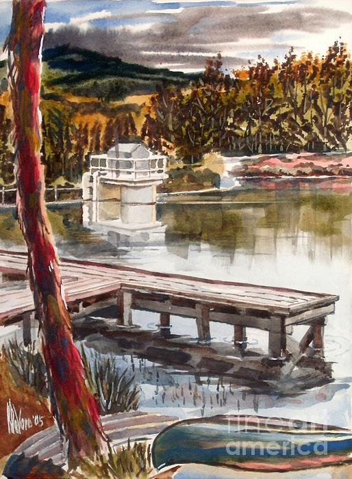 Shepherd Mountain Lake In Twilight Print by Kip DeVore