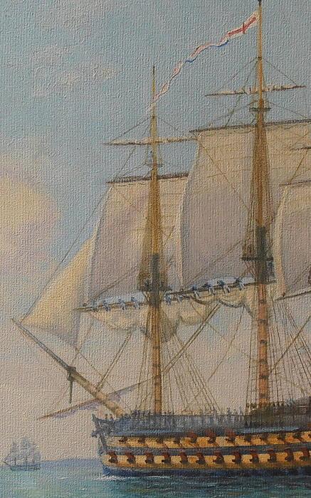 Ship-of-the-line Print by Elaine Jones