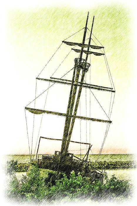 Ship Wreck Print by Jim Nelson