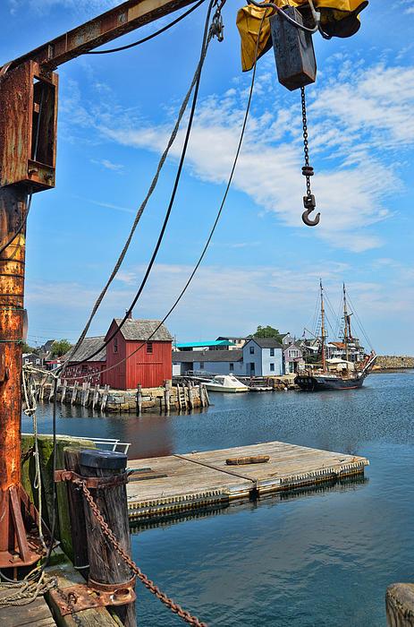 Shipyard Of Cape Ann... Print by Joanne Beebe