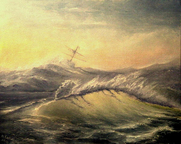 Shivering Beauty Of Storm Print by Mikhail Savchenko