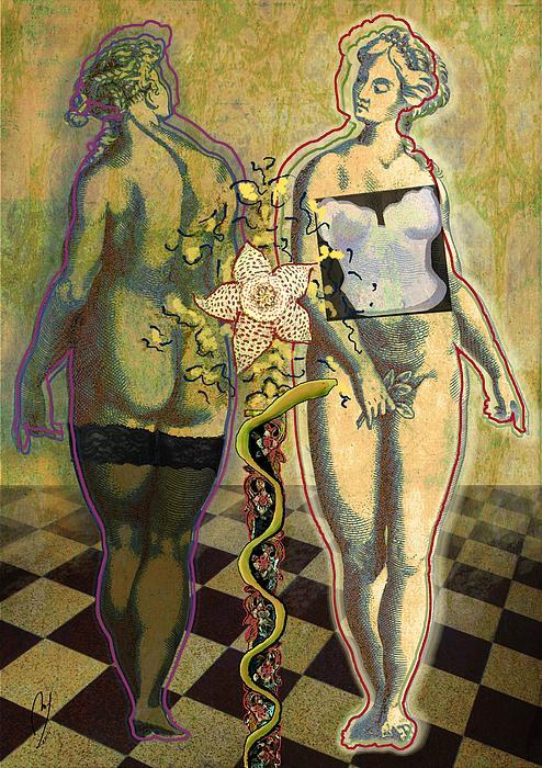 Shivering Eve Print by Maria Jesus Hernandez