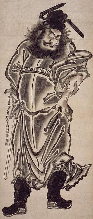 Shoki The Demon Queller Print by Okumura Masanobu