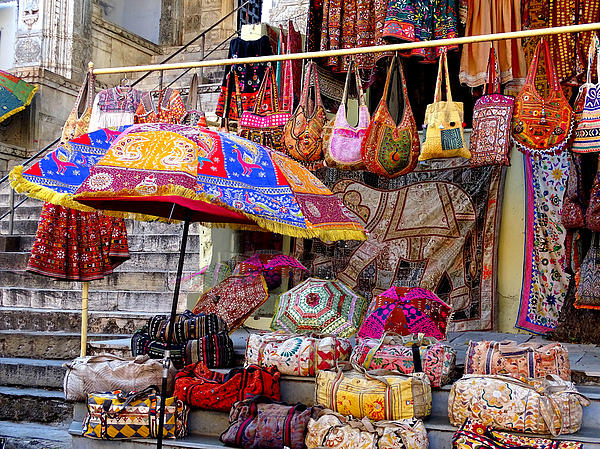 Shopping Colorful Bags Sale Jaipur Rajasthan India By Sue