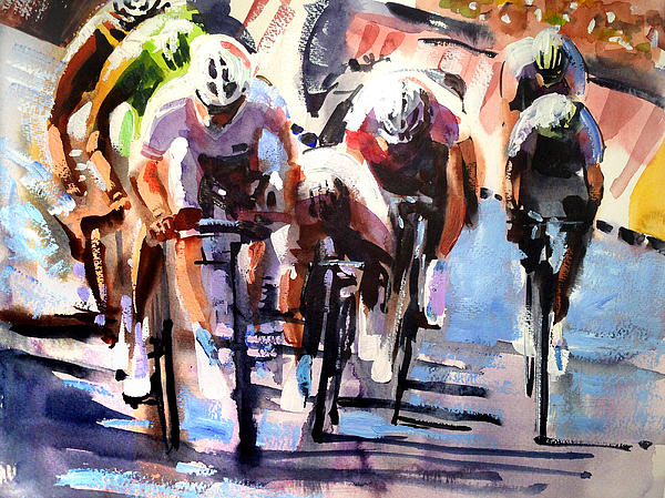 Short Sharp Sprint Print by Shirley  Peters
