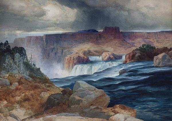 Shoshone Falls Idaho Print by Thomas Moran