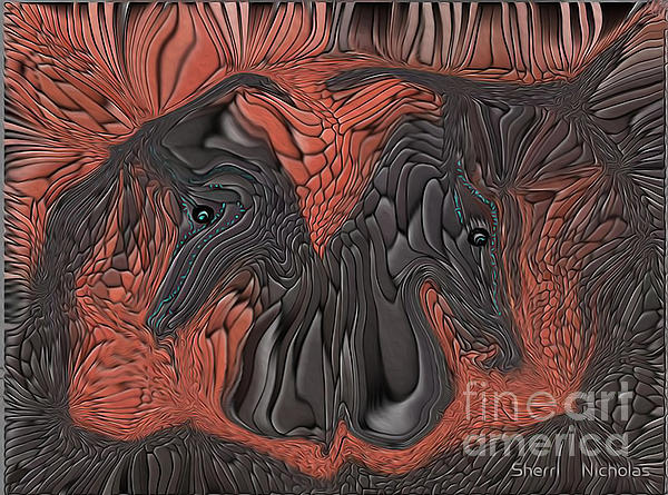 Show Time...beautiful Horses Print by Sherri  Of Palm Springs