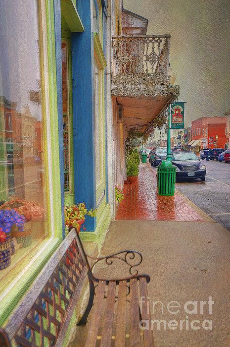 Sidewalk Shot Weston Missouri Print by Liane Wright