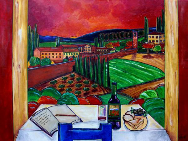 Siena Hillside Print by Patti Schermerhorn