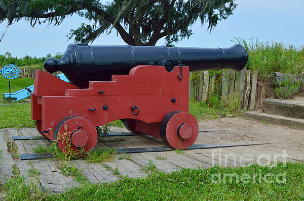 Silent Cannon Print by Alys Caviness-Gober
