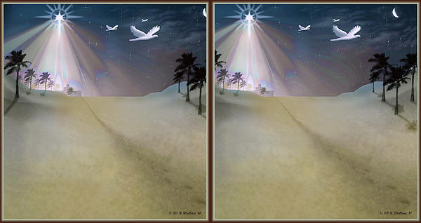 Silent Night - Gently Cross Your Eyes And Focus On The Middle Image Print by Brian Wallace
