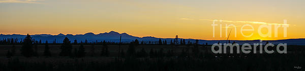 Jennifer White - Silhouette Sunrise Yellowstone Pano