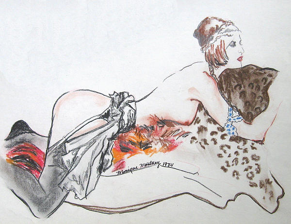 Silk Stockings Print by Monique Montney